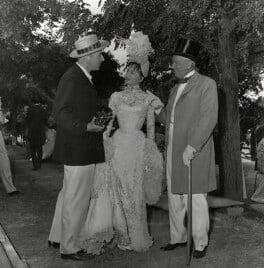 Cecil Beaton; Leslie Caron; Maurice Chevalier, by Associated Press - NPG x40510