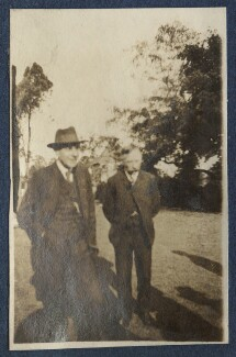 Goldsworthy Lowes Dickinson; Charles Percy Sanger, by Lady Ottoline Morrell - NPG Ax140746