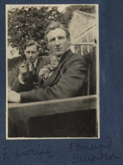 Edward George Downing Liveing; Edmund Blunden, by Lady Ottoline Morrell - NPG Ax140776