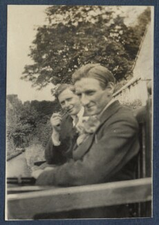 Edward George Downing Liveing; Edmund Blunden, by Lady Ottoline Morrell, 1920 - NPG Ax140777 - © National Portrait Gallery, London