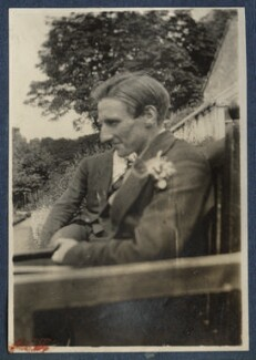 Edward George Downing Liveing; Edmund Blunden, by Lady Ottoline Morrell - NPG Ax140779