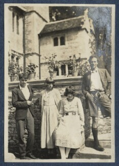 Michael Llewelyn Davies; Dora Carrington; Julian Vinogradoff (née Morrell); Ralph Partridge, by Lady Ottoline Morrell - NPG Ax140801