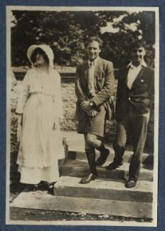 Lady Ottoline Morrell; Ralph Partridge; Michael Llewelyn Davies, by Philip Edward Morrell - NPG Ax140802