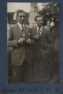 Alan MacIver; Ralph Partridge, by Lady Ottoline Morrell - NPG Ax140804