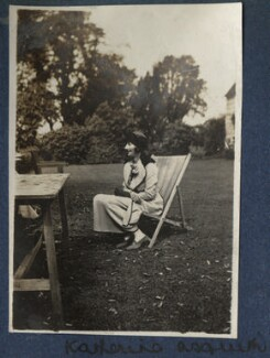 Katharine Frances Asquith (née Horner), by Lady Ottoline Morrell, June 1920 - NPG Ax140821 - © National Portrait Gallery, London
