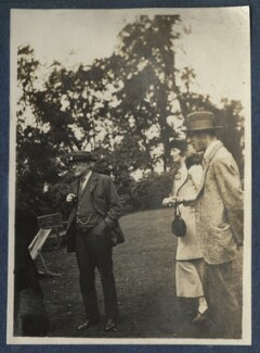 Augustine Birrell; Katharine Frances Asquith (née Horner); Anthony Birrell, by Lady Ottoline Morrell, June 1920 - NPG Ax140823 - © National Portrait Gallery, London