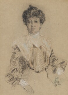 Emma Albani, by Richard George Mathews, 1905 - NPG  - © estate of Richard George Mathews / National Portrait Gallery, London