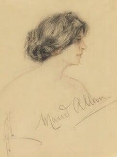 Maud Allan, by Richard George Mathews, circa 1908 - NPG 6730 - © estate of Richard George Mathews / National Portrait Gallery, London