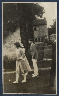 Julian Vinogradoff (née Morrell); Maria Huxley (née Nys); T.S. Eliot; Sir John Tresidder Sheppard, by Lady Ottoline Morrell, 1920 - NPG Ax140847 - © National Portrait Gallery, London