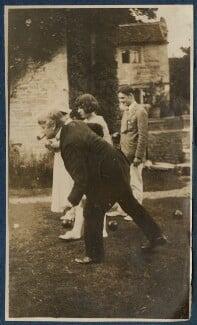 Sir John Tresidder Sheppard; Maria Huxley (née Nys); Julian Vinogradoff (née Morrell); T.S. Eliot, by Lady Ottoline Morrell - NPG Ax140849