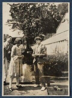 T.S. Eliot; Julian Vinogradoff (née Morrell); Lady Ottoline Morrell; Mark Gertler, possibly by Philip Edward Morrell, 1920 - NPG Ax140851 - © National Portrait Gallery, London