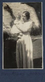 Matthew Huxley; Maria Huxley (née Nys), by Lady Ottoline Morrell - NPG Ax140857