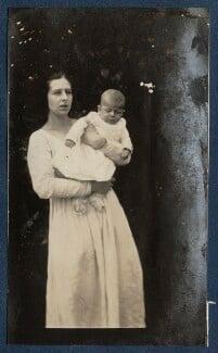 Maria Huxley (née Nys); Matthew Huxley, by Lady Ottoline Morrell - NPG Ax140858