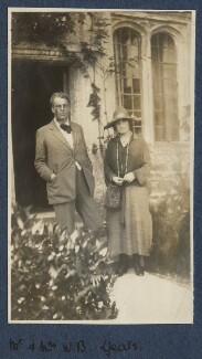 W.B. Yeats; Bertha Georgie Yeats (née Hyde-Lees), by Lady Ottoline Morrell - NPG Ax140876