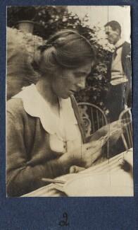 Fredegond Shove (née Maitland); Philip Edward Morrell, by Lady Ottoline Morrell - NPG Ax140887