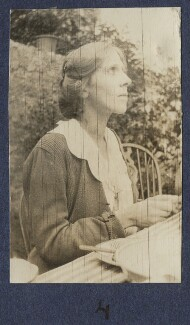 Fredegond Shove (née Maitland), by Lady Ottoline Morrell - NPG Ax140889
