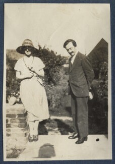Simon Bussy and an unknown woman, by Lady Ottoline Morrell - NPG Ax140894