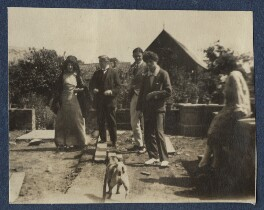 Lady Ottoline Morrell with friends, possibly by Philip Edward Morrell - NPG Ax140902