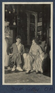 T.S. Eliot; Mark Gertler; Lady Ottoline Morrell, possibly by Lady Ottoline Morrell - NPG Ax140904