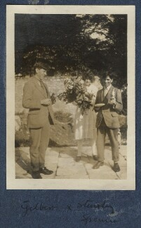 Gilbert Spencer; Julian Vinogradoff (née Morrell); Sir Stanley Spencer, by Lady Ottoline Morrell - NPG Ax140906