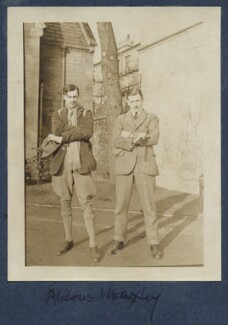 Aldous Huxley and an unknown man, by Lady Ottoline Morrell - NPG Ax140914