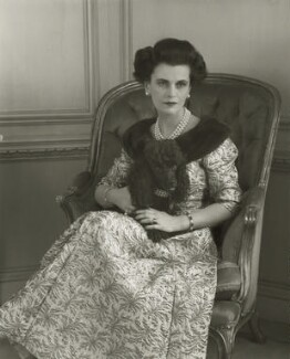 (Ethel) Margaret Campbell (née Whigham), Duchess of Argyll, by Rex Coleman, for  Baron Studios - NPG x125994