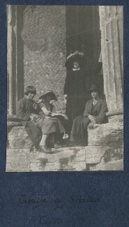 Margery Gill; Julian Vinogradoff (née Morrell); Lady Ottoline Morrell; Winifred Knights, by Philip Edward Morrell - NPG Ax140938