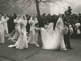The wedding of Nancy Beaton and Sir Hugh Houston Smiley, 3rd Bt, by James Jarché, for  Daily Herald, 18 January 1933 - NPG x36487 - © Mirrorpix