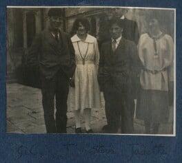 Gilbert Spencer; Julian Vinogradoff (née Morrell); Sir Stanley Spencer; Judith Masefield, by Lady Ottoline Morrell, 1920 - NPG Ax141198 - © National Portrait Gallery, London