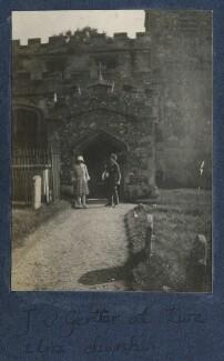 Julian Vinogradoff (née Morrell); Mark Gertler, by Lady Ottoline Morrell - NPG Ax141202