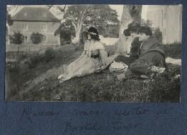 Lady Ottoline Morrell; Harriette Morrell (née Wynter); Mark Gertler, by Philip Edward Morrell - NPG Ax141218
