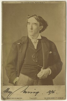 Sir Henry Irving, by Joshua James Foster, for  Dickinson Brothers & Foster - NPG x3676