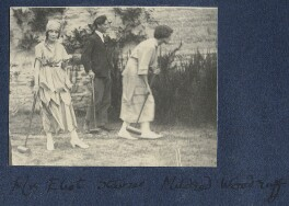 Vivienne ('Vivien') Eliot (née Haigh-Wood); Peter Stainer; Mildred Woodruff, by Lady Ottoline Morrell - NPG Ax141227