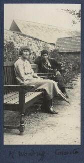 Mildred Woodruff; Frank James Prewett, by Lady Ottoline Morrell - NPG Ax141234