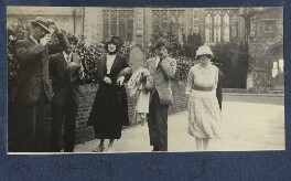 Lady Ottoline Morrell with friends, by Philip Edward Morrell - NPG Ax141237