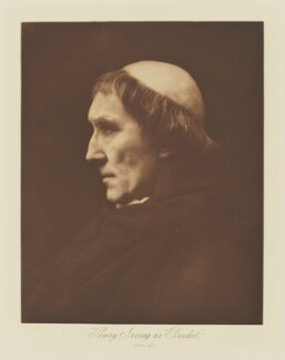 Sir Henry Irving as Thomas à Beckett in 'Becket', by Henry Herschel Hay Cameron (later The Cameron Studio), published by  T. Fisher Unwin - NPG Ax29148