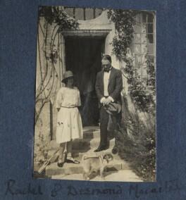 Rachel (née MacCarthy), Lady David Cecil; Sir Desmond MacCarthy, by Lady Ottoline Morrell - NPG Ax141273