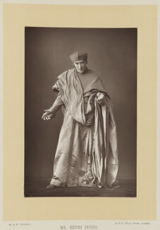Sir Henry Irving as Cardinal Wolsey in 'Henry VIII', by W. & D. Downey, published by  Cassell & Company, Ltd - NPG Ax16147