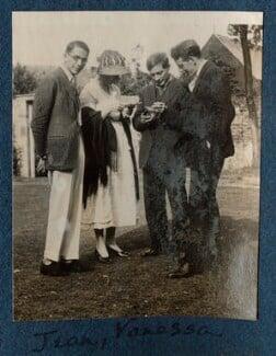 Jean de Menasce; Vanessa Bell; Duncan Grant; Eric Siepmann, by Lady Ottoline Morrell - NPG Ax141298