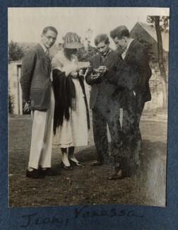 Jean de Menasce; Vanessa Bell (née Stephen); Duncan Grant; Eric Siepmann, by Lady Ottoline Morrell, 1922 - NPG Ax141298 - © National Portrait Gallery, London