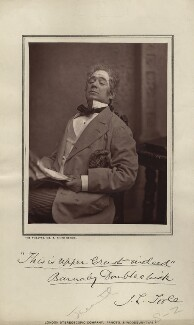 John Lawrence Toole as Barnaby Doublechick in 'The Upper Crust', by London Stereoscopic & Photographic Company - NPG x26924
