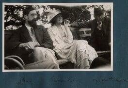 Lytton Strachey; Virginia Woolf; Goldsworthy Lowes Dickinson, by Lady Ottoline Morrell, June 1923 - NPG Ax141313a - © National Portrait Gallery, London