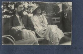 Lytton Strachey; Virginia Woolf; Goldsworthy Lowes Dickinson, by Lady Ottoline Morrell, June 1923 - NPG Ax141313 - © National Portrait Gallery, London