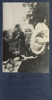 Lord David Cecil; Edward ('Eddy') Sackville-West; Virginia Woolf; Lytton Strachey, by Lady Ottoline Morrell - NPG Ax141312