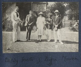 Philip and Julian with Garsington visitors, by Lady Ottoline Morrell, 1922-1923 - NPG Ax141323 - © National Portrait Gallery, London