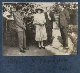 Mark Gertler; Julian Vinogradoff (née Morrell); Henry William Massingham; E.M. Forster, by Lady Ottoline Morrell - NPG Ax141325