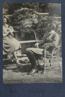Julian Vinogradoff (née Morrell); Philip Edward Morrell, by Lady Ottoline Morrell - NPG Ax141336