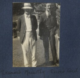 Sir Desmond MacCarthy; Lord David Cecil, by Lady Ottoline Morrell - NPG Ax141338