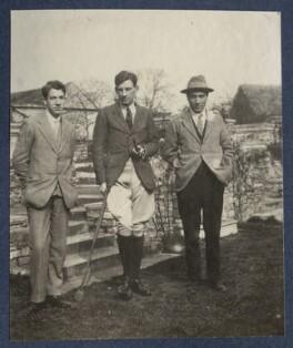 Colin de la Mare, Siegfried Sassoon; Frank James Prewett, by Lady Ottoline Morrell - NPG Ax141381