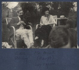 Lytton Strachey; Margot Asquith, by Lady Ottoline Morrell - NPG Ax141458